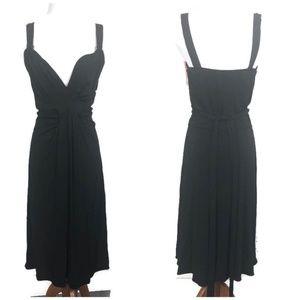 NEW Tahari Women's Ruffle Belted Midi Dress BIK